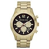 Michael Kors Watch, Men's Chronograph Layton Gold-Tone Stainless Steel Bracelet 44mm MK8246