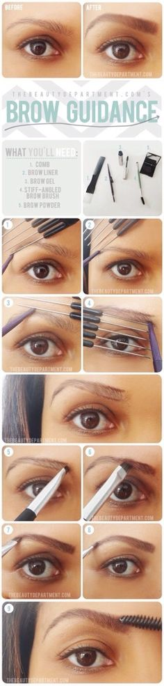 strong eyebrows are important. how to fill in your eyebrows.