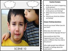 Perspective Taking~Real Life Photo Cards. 30 Real life photos with teacher prompts to help children practice and improve their perspective taking skills.
