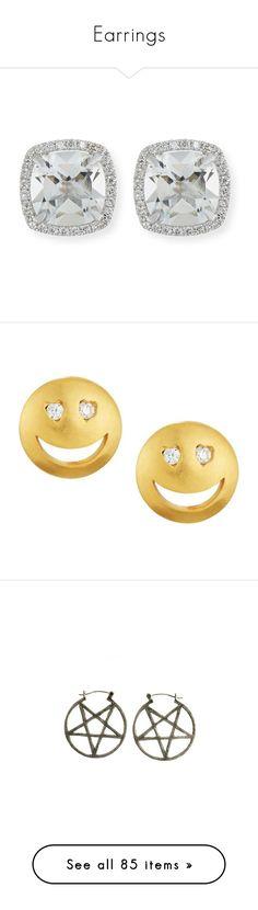 """Earrings"" by chell-p ❤ liked on Polyvore featuring jewelry, earrings, accessories, earring jewelry, stud earrings, 18 karat gold stud earrings, white topaz stud earrings, white gold jewelry, studs and gold"