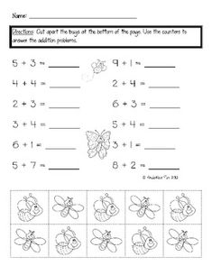 This activity sheet has students practice addition facts using counters. Higher level students may be able to complete this activity sheet without ...