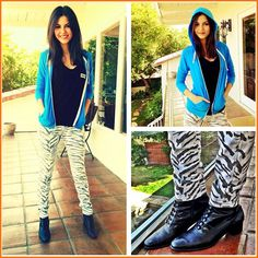 Victoria Justice Shows Off Her Animal Print Style