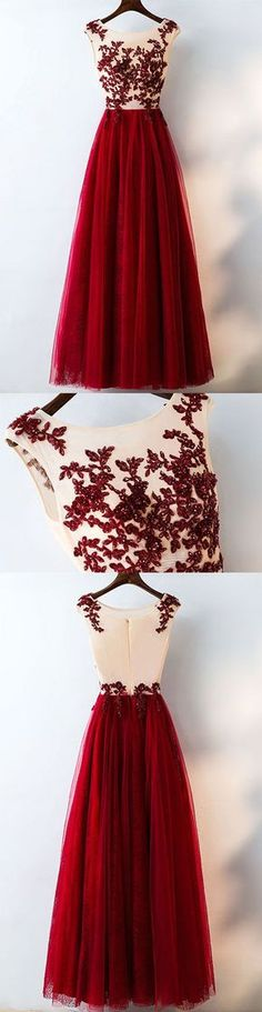Formal Tulle Applique Inexpensive Elegant Long Evening Prom Dresses, BG51623