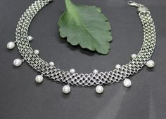 Kropf, Band, Pearl Necklace, Pearls, Jewelry, Fashion, String Of Pearls, Pearl Jewelry, Rhinestones
