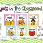 Decorate your classroom in bright chevron! This set includes: job cards in TWO sizes and -light technician -calendar captain -d. Classroom Library Labels, Kindergarten Classroom Management, Classroom Helpers, Classroom Jobs, 2nd Grade Classroom, First Grade Math, Classroom Organization, Classroom Decor, Circus Classroom