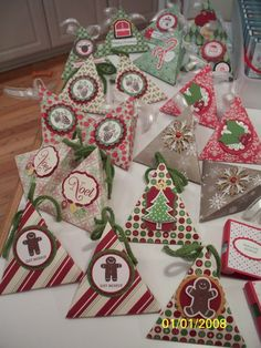 Christmas Craft Fair, Triangle Treat Boxes