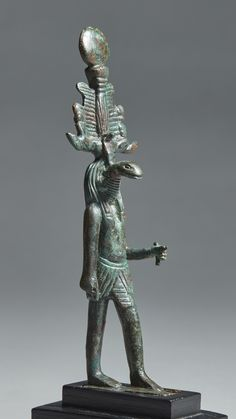 an egyptian bronze f ||| statues and figures ||| sotheby's n09595lot96n5sen