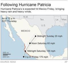 PUERTO VALLARTA, Mexico (AP) — Hurricane Patricia roared ashore in southwestern Mexico as a Cat