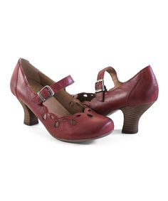 Look at this Crowne Comforteur Red Chels Leather Pump on #zulily today!