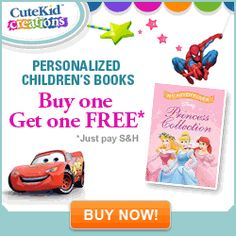 The Todd & Erin Favorite Five Daily is out--Two Personalized Children's Books For $19.99--free shipping