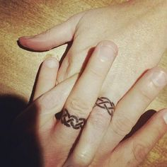 Lovely Wedding Ring Tattoos Ideas Finger Tattoos Pinterest