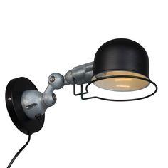 Stoere wandlamp Jip Zwart