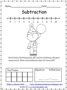 Please leave some feedback-Thanks! FREEBIE: ADDITION and SUBTRACTION WORD PROBLEMS (2 pages) - Solve word problems using number line, drawing, ten frame, and equation!