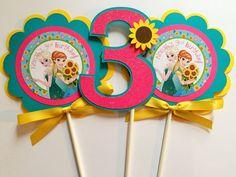 3 fiebre congelados cumpleaños fiesta por sweetheartpartyshop