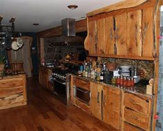 Custom Rustic Kitchen Cabinets rustic kitchen cabinets | rustic handcrafted cedar vanity | log