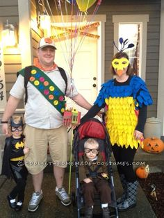 Coolest Homemade Up Family Costume... This website is the Pinterest of costumes
