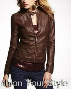 fashion leather coat for women