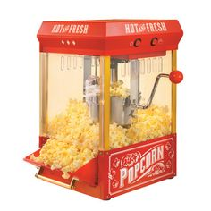 Nostalgia Electrics Vintage Kettle Popcorn Maker will bring the old fashioned fun to your party. Styled after a popcorn vendor cart from the early Kettle Popcorn, Popcorn Cart, Popcorn Bowl, Best Popcorn, Popcorn Bucket, Popcorn Kernels, Popcorn Maker, Popcorn Stand, Movie Popcorn