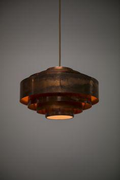 Jo Hammerborg ceiling lamp model Ultra in copper at Studio Schalling