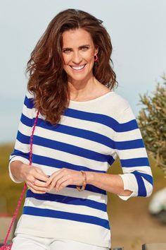 pull raye femme laine ete ultra bleu