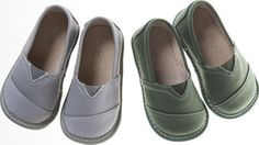 Grey Squeaker Boys Shoes by SmockingPurpleZebra on Etsy