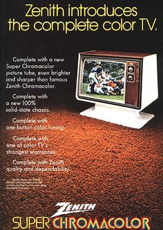 Zenith's complete color TV, circa 1972.