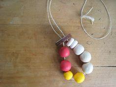 bubala: Polymer clay beaded necklace tutorial using firmo clay