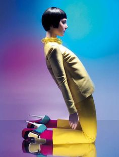 Bright Rainbow Photo Shoots - The Andrea Klarin Knack Takes Color Blocking to Another Level (GALLERY)