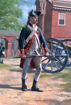 Philadelphia Artillery Battalion, 1776, by Don Troiani.