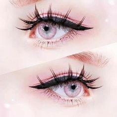 Anime Eye Makeup, Anime Cosplay Makeup, Makeup Art, Cosplay Makeup Tutorial, Makeup Eyes, Aesthetic Eyes, Aesthetic Makeup, Makeup Inspo, Makeup Inspiration