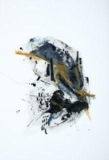 Encaustique aquarelle et encre sur papier