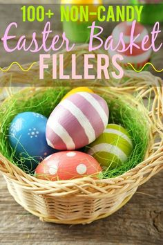 112 Non Edible Easter Basket Fillers ideas - Fill the Easter baskets with something other than candy this year with these 112 Non-Edible Easter Basket Fillers ideas. Ideas for all ages! Non-candy Easter basket ideas for kids! Craft Stick Crafts, Diy Crafts, Easter Holidays, Happy Holidays, Easter Bunny Decorations, Easter Celebration, Easter Crafts For Kids, Spring Crafts, Easter Baskets