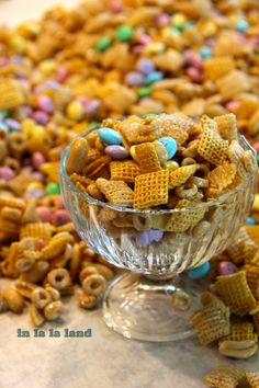 honey nutty chex mix for easter!