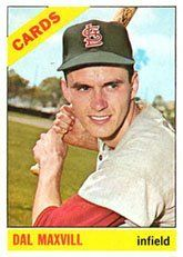 1966 Topps Regular (Baseball) Card# 338 Dal Maxvill of the St. Louis Cardinals VG Condition by Topps. $1.20. 1966 Topps Regular (Baseball) Card# 338 Dal Maxvill of the St. Louis Cardinals VG Condition