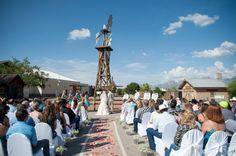 rustikale Western Hochzeit im Freien