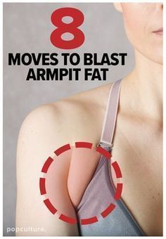If that little extra fold of skin between your arm and chest bugs the daylights out of you, don't freak — we've got an at-home workout targeted to blast armpit fat! Popculture.com #armpitfat #brabulge #backfat #womenshealth #athomeworkout #healthyliving #brafat #workout #fitness #athomeworkout