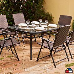 Juego de #terraza Amalfi 7 piezas #jardin