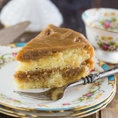 Southern Caramel Cake will make any occasion memorable. Two moist cake layers are covered with tons of sweet caramel icing. Köstliche Desserts, Delicious Desserts, Southern Caramel Cake, Carmel Cake, Cake Recipes, Dessert Recipes, Italian Cream Cakes, Caramel Icing, Decadent Cakes