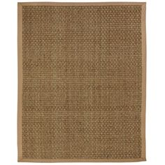 Windjammer Basketweave Seagrass Rug with Khaki Cotton Border (8' x 10') Overstock.com $320