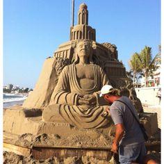 Esculturas de arena en Puerto Vallarta