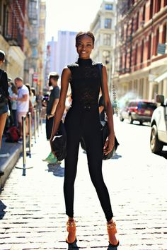 Model Maria Borges Goes Street Style in New York Photo Is From September 2013 Trousers