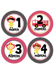 Wish I saw this for Hudson    Monthly Onesie StickersFireman  Fire by BuddhaBellies on Etsy, $9.00