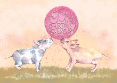 Birthday Pigs Illustration by Limn House