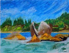 Shell Rock: Writer mulling around....