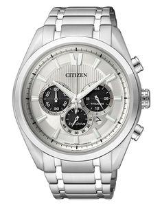 citizen   €299   heren horloge CA4010-58A super titanium chrono 270 dagen gangreserve datumaanduiding 10 bar waterdicht lichtgeven wijzers stopwatch 24-Uur aanduiding #citizen #eco-drive #watch #horloge