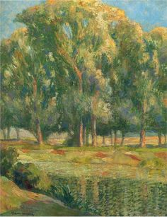 Trees by the River, Henri Martin