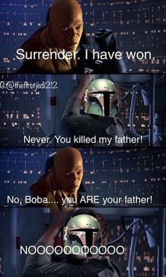 Picture memes by TheClassyOne: 62 comments - iFunny :) Star Wars Trivia, Star Wars Jokes, Star Wars Facts, Star Wars Pictures, Star Wars Images, Father's Day Memes, Memes Humor, Funny Humor, Prequel Memes