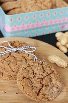 - pindakaas koekjes - handmadehelen Speculoos Cookies, Peanut Butter Cookies, Le Chef, Biscotti, Cookie Recipes, Delicious Desserts, Sweet Tooth, Deserts, Food Porn