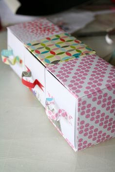 Wonderful little paper boxes are made very easily.