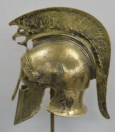 "viktor-sbor: ""Greek-Spartan-Corinthian-Bronze-Helmet-With-Griffin-Battle-Scared-Antique-Style """